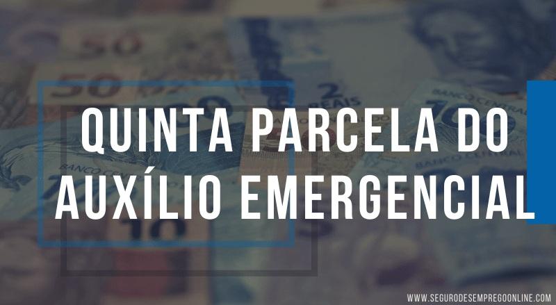 pagamento da quinta parcela do auxílio emergencial